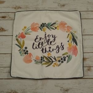 Enjoy Little Things Embroidery Pillow Cove…